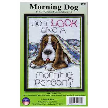 Morning Dog Counted Cross Stitch Kit